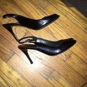 Ann taylor open toe heels 8 1/2